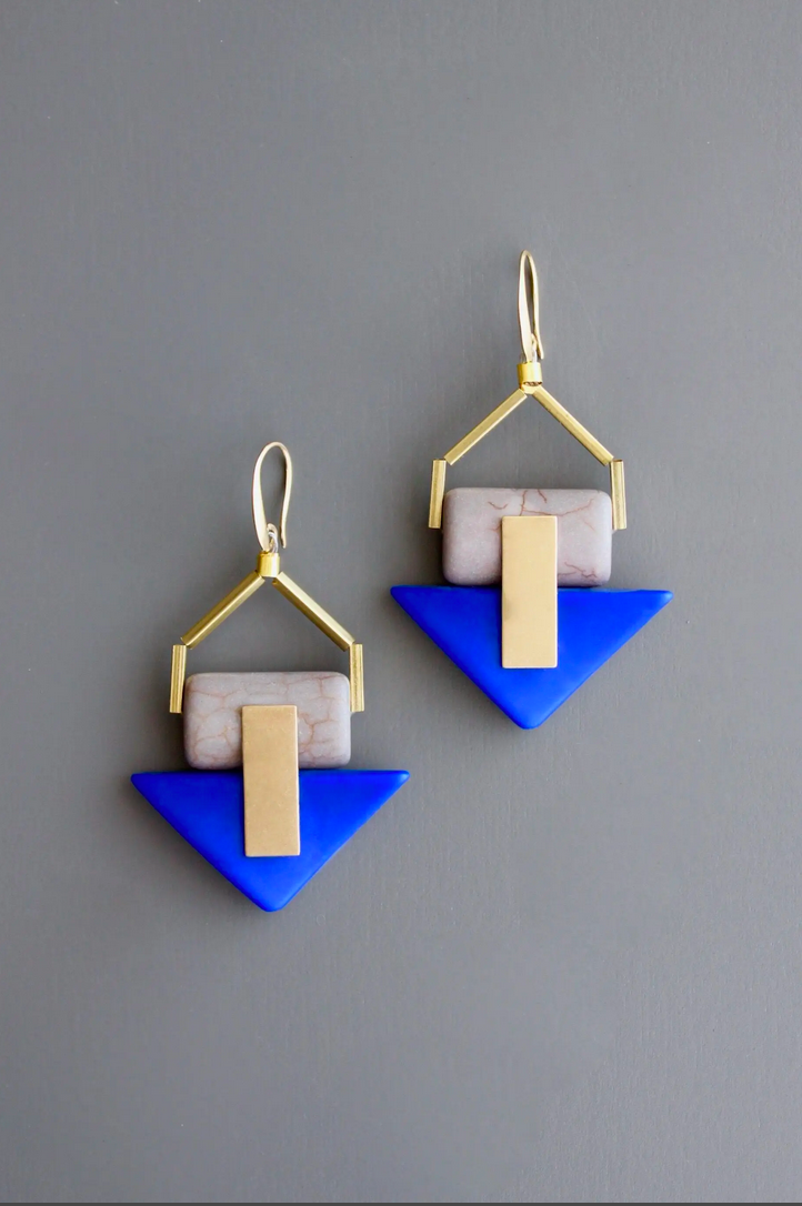Indigo Statement Earring