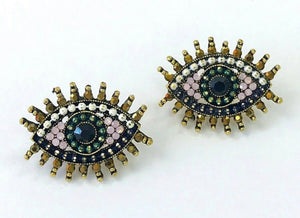 Pink Eye Stud Earring