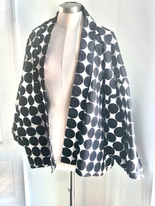 Dotted All- Over Kimono Jacket