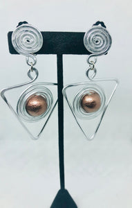 Copper Dangle Earring (Clip- on)