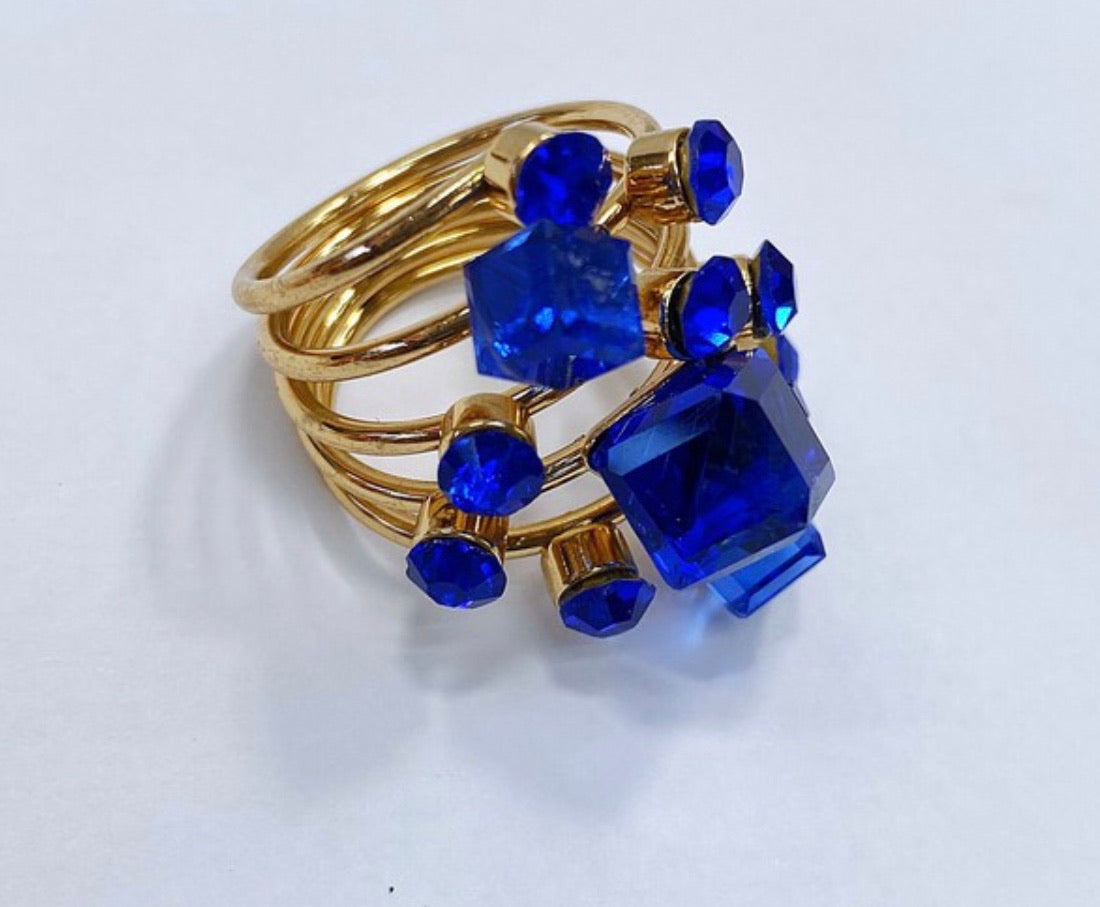 Stacked Jewel Ring