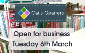 We will be open on Tuesday 6th March