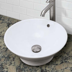 Celena ® Round Above-Counter Vitreous China Bathroom Sink with Overflow