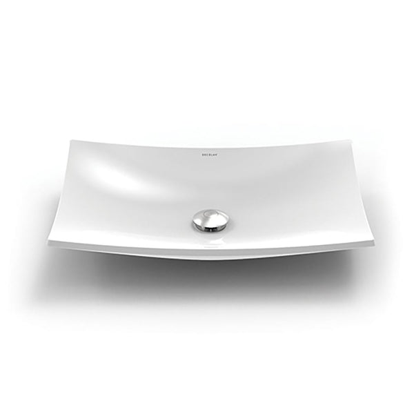 Iris ® Rectangular Above-Counter Vitreous China Bathroom Sink in White
