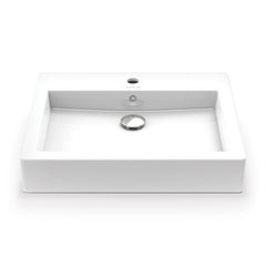 Tallia ® Rectangular Above-Counter Vitreous China Bathroom Sink in White