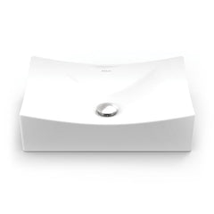 Kalina ® Rectangular Above-Counter Vitreous China Bathroom Sink in White