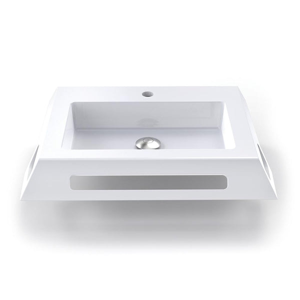 Lexine Solid Surface ADA Compliant Wall-Mount Bathroom Sink