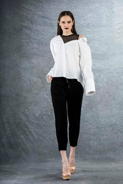 Tania White Casual Shirt