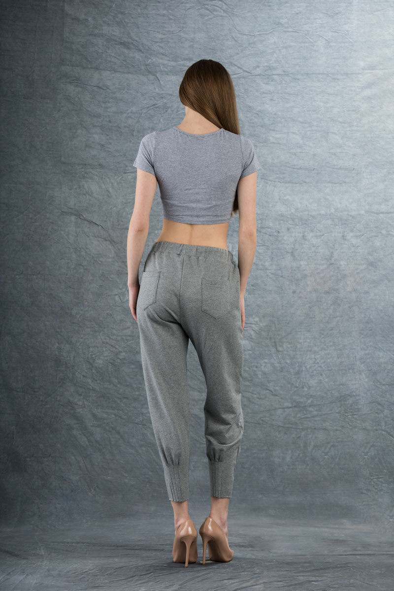 Phillipe Crop Top Gray