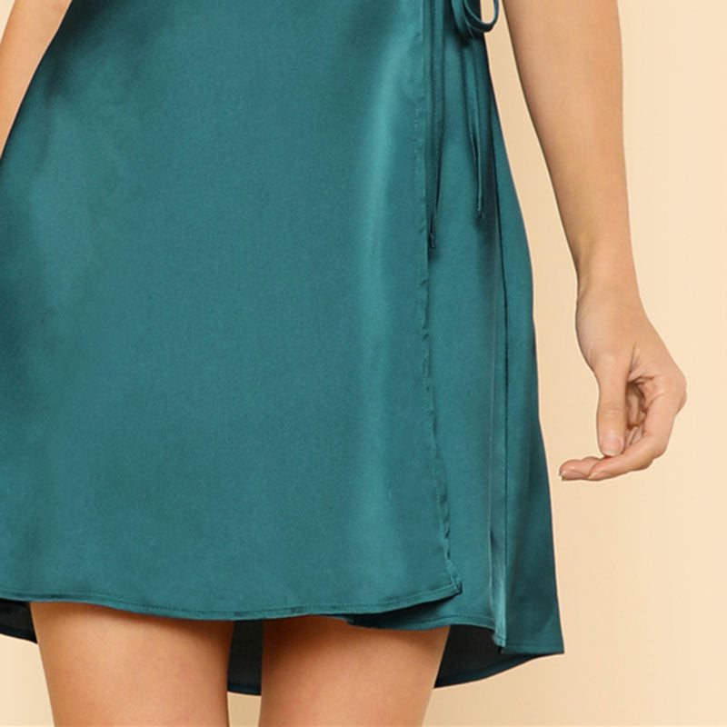 2018 Sexy Belted Short Dress