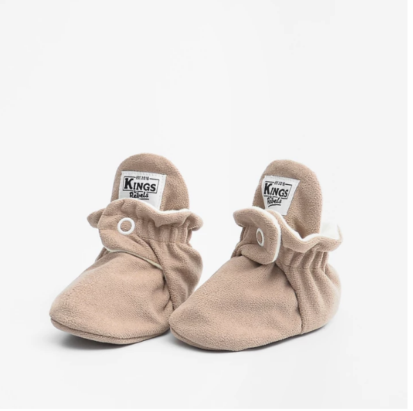 BOTAS BEBE FLEECE GAMUZA CAFE