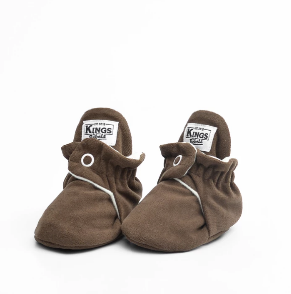 BOTAS BEBE FLEECE GAMUZA CHOCOLATE