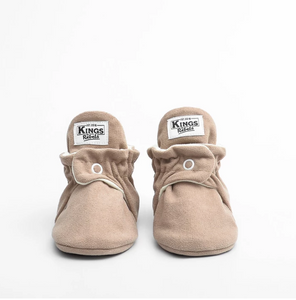 BOTAS BEBE FLEECE GRIPPER GAMUZA CAFE