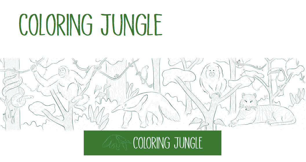 MURAL COLORING JUNGLE