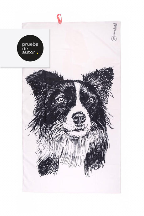 TOALLA EN MICROFIBRA BORDER COLLIE