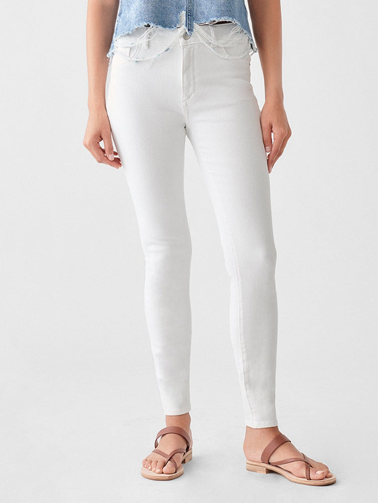 Florence Ankle Mid Rise Skinny - Milk