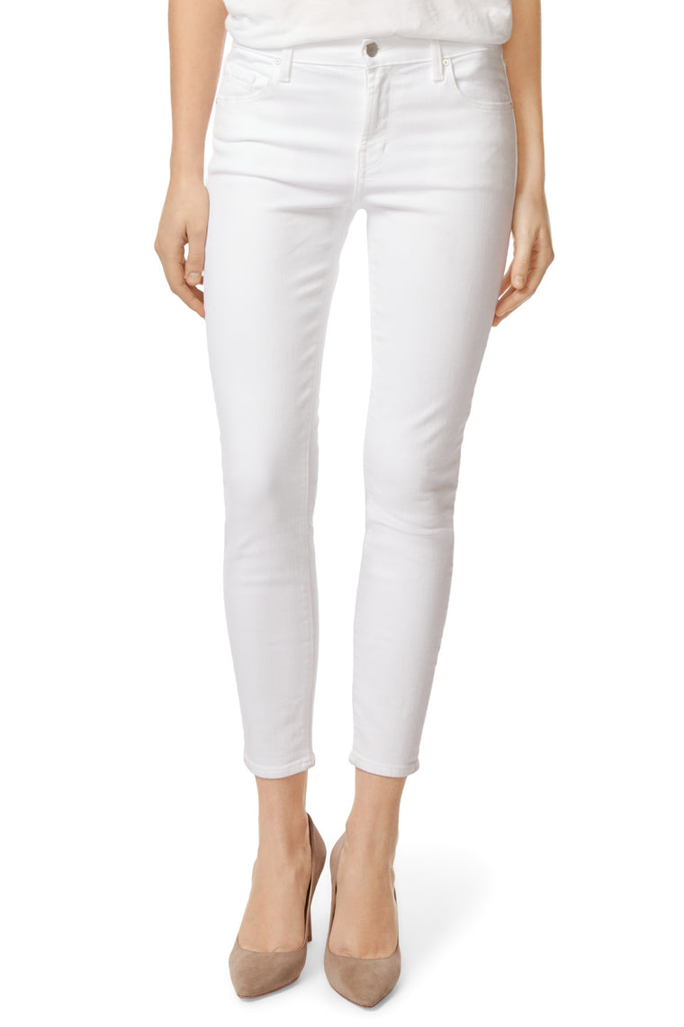 835 Mid-Rise Cropped Skinny Jeans - Blanc - Jaffi's
