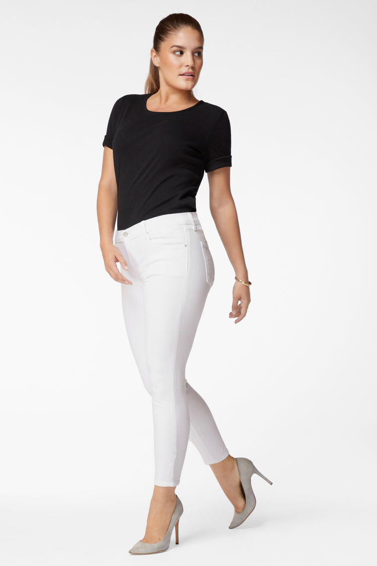 835 Mid-Rise Cropped Skinny Jeans - Blanc