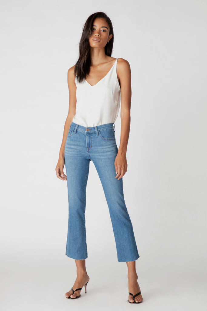 Selena Mid-Rise Crop Boot - Cerulean