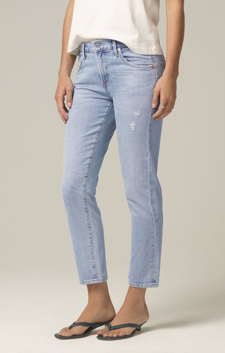 The Elsa Mid Rise Slim Fit Crop Jean - Imagine Wash