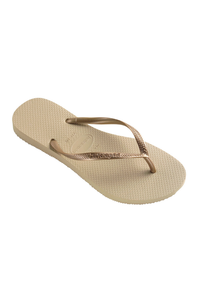 The Slim Flip Flop - Light Gold