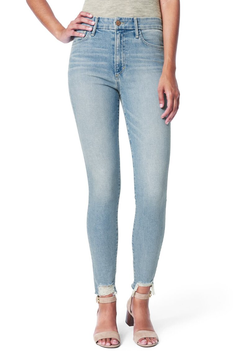 The Charlie High Rise Skinny Crop - Plumeria