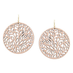 Filigree Leather Cut Out Disc Earring