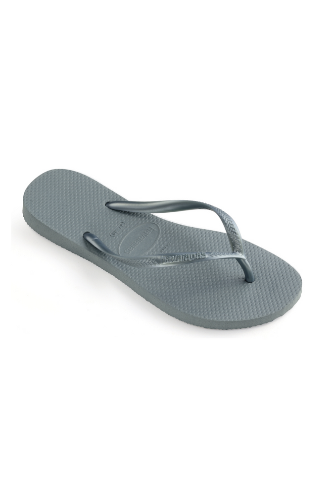 The Slim Flip Flop - Silver Blue