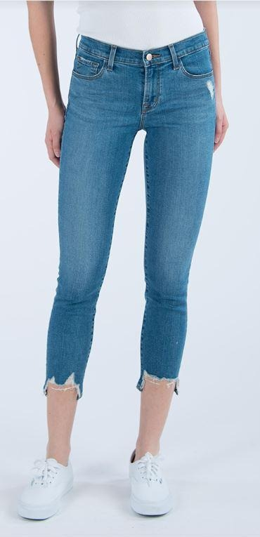 835 Mid Rise Crop Skinny - Uncharted Destruct