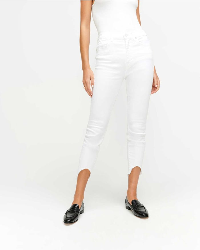 Load image into Gallery viewer, Ankle Skinny Wave Hem - Clean White