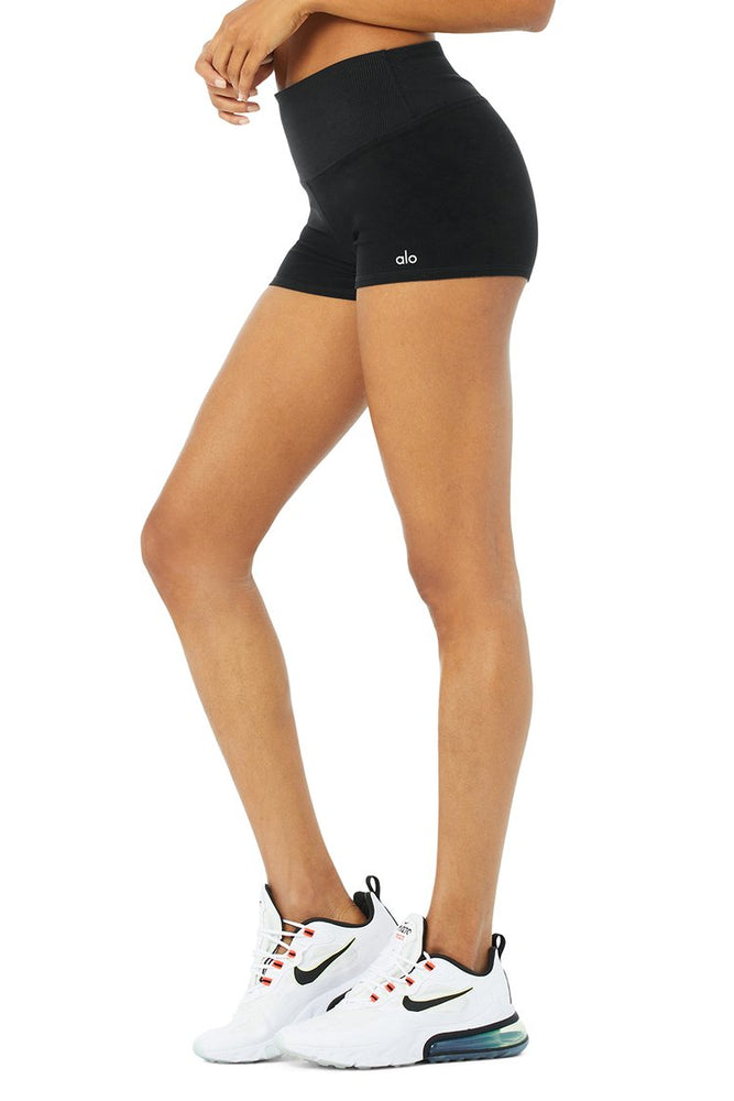 Alosoft Aura Short - Black - Side View