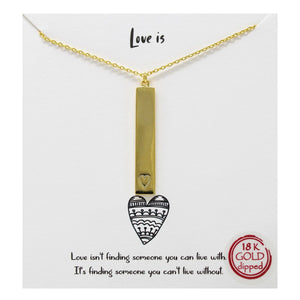 Load image into Gallery viewer, Love Is - Charm Necklace - Jaffi's