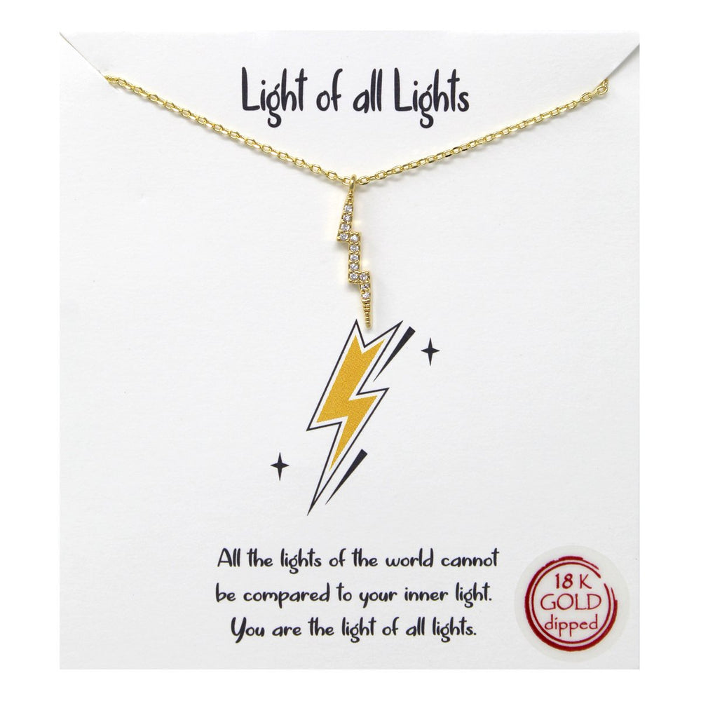Light Of All Lights - Lightning Bolt Necklace - Jaffi's
