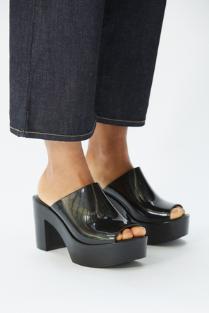 Load image into Gallery viewer, The Open Toe Mule - Black