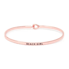 BEACH GIRL Inspirational Message Bracelet