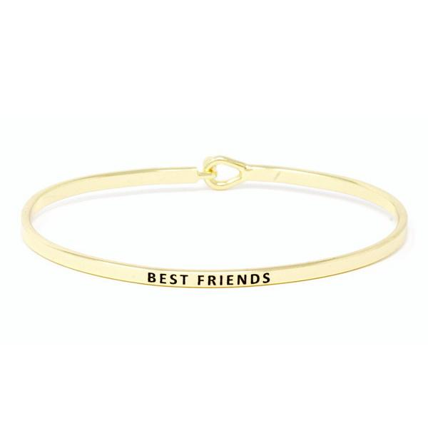 BEST FRIENDS Inspirational Message Bracelet - Jaffi's