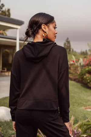 Load image into Gallery viewer, French Terry Crop Hoodie