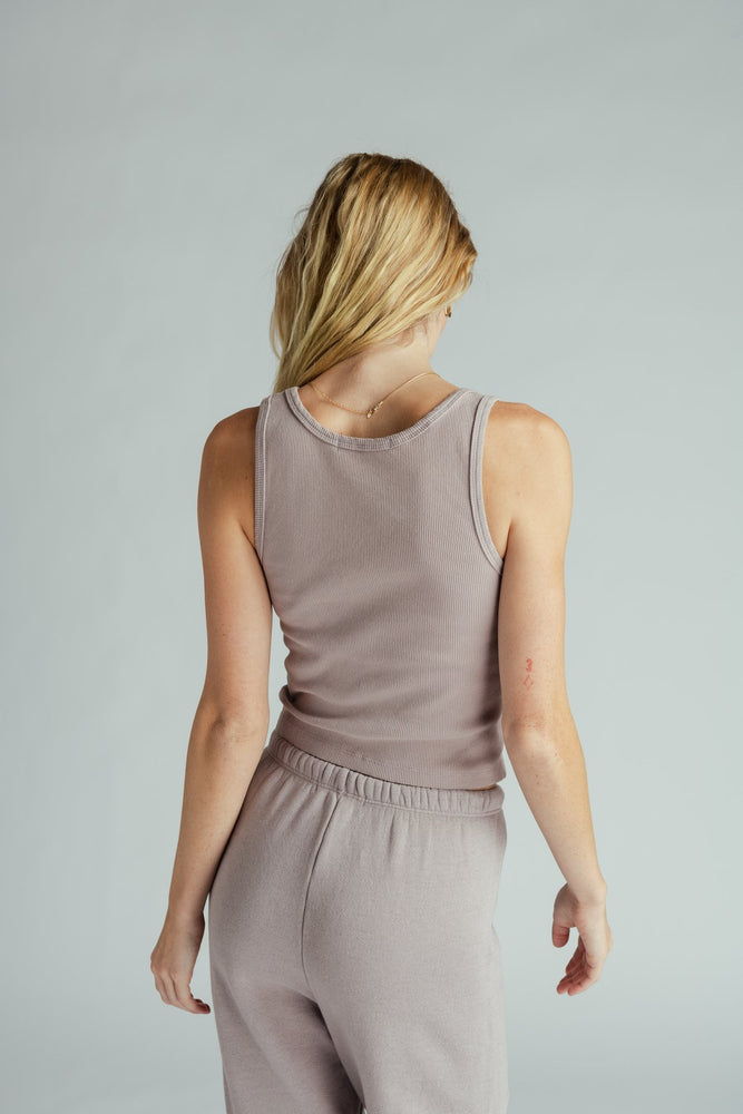 Load image into Gallery viewer, Blondie Rib Tank - Mauve Mist