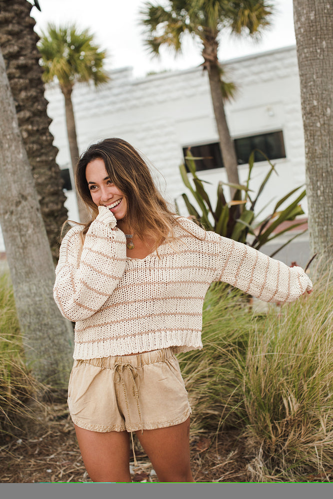 Load image into Gallery viewer, Caly Sweater - Natural Light Alternate View