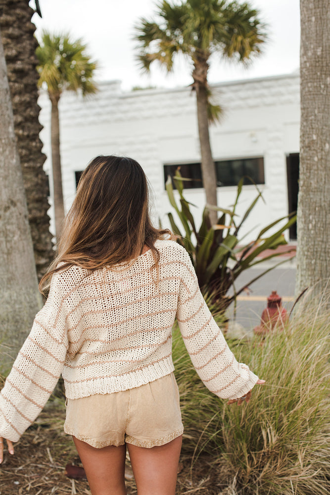 Load image into Gallery viewer, Caly Sweater - Natural Light - Back View