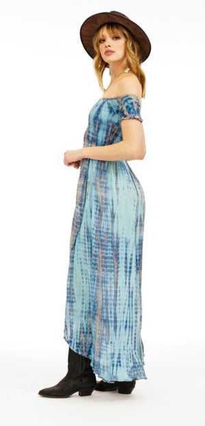 Load image into Gallery viewer, Cheyenne Dress - Leo Aqua/Stone