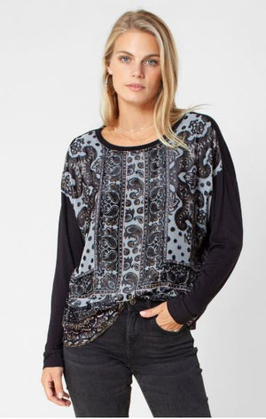 Load image into Gallery viewer, Clarissa Burnout L/S Top
