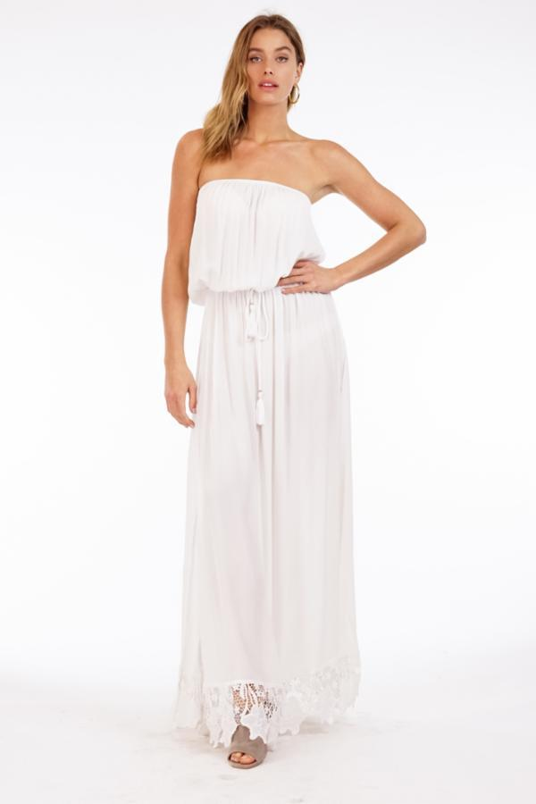 The Coconut Long Dress - White