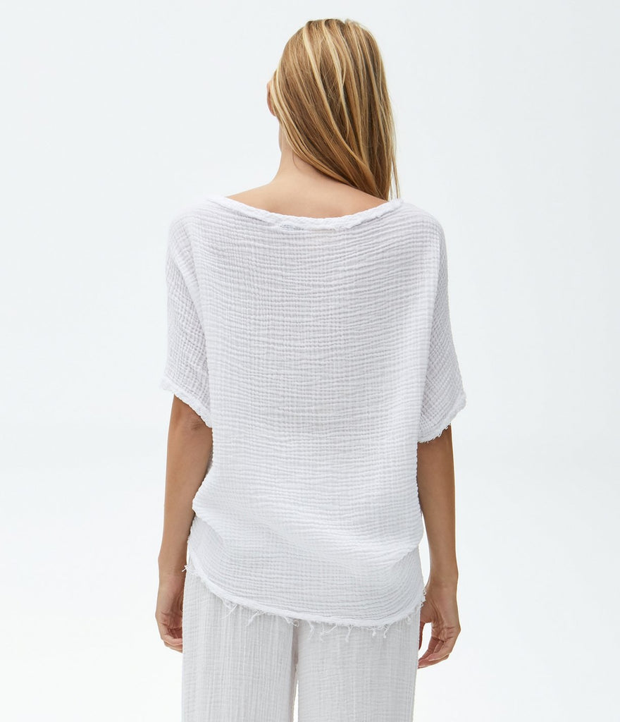 Madonna Elbow Sleeve Top