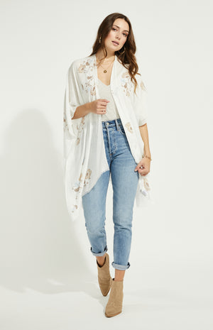 Load image into Gallery viewer, Dawn Boho White Open Cardi