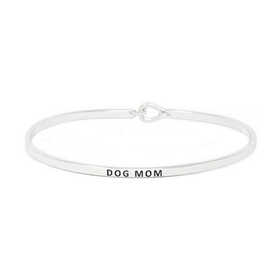 Load image into Gallery viewer, DOG MOM Inspirational Message Bracelet