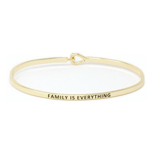 FAMILY IS EVERYTHING Inspirational Message Bracelet