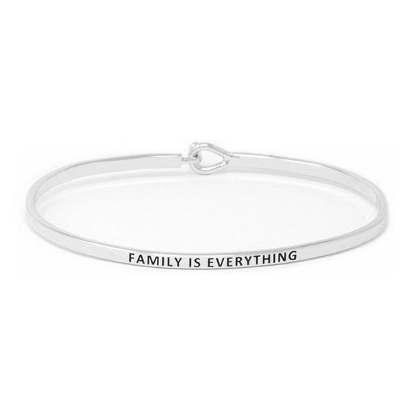 Load image into Gallery viewer, FAMILY IS EVERYTHING Inspirational Message Bracelet