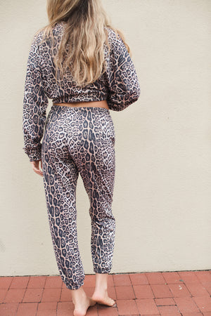 Load image into Gallery viewer, French Terry Sweatpant - Leopard