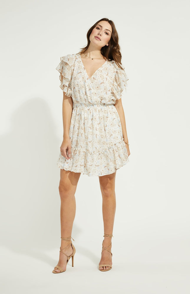 Caroline Flutter Sleeve Dress